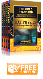 Gold Standard Optometry Admission Test (OAT) Comprehensive Review, 2 Practice Tests and Complete 4-Book Set